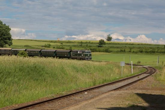 Retz, Österreich: поезд в пути