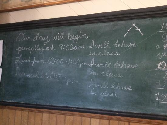 classroom  chalkboard picture  fourth ward