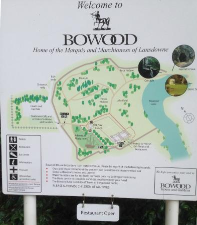 Sign with Property Map - Picture of Bowood House and Gardens ... Hill House Garden Plan on brighton house plan, garden cottage southern living house plans, garden view cottage house plan,