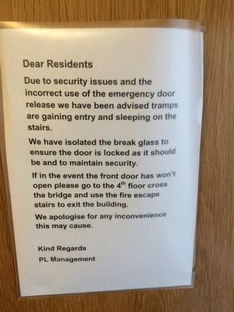Clarendon Serviced Apartments - Steward Street: Don't stay here. The actual apartments are fine but security is low and the entry is dirty and l