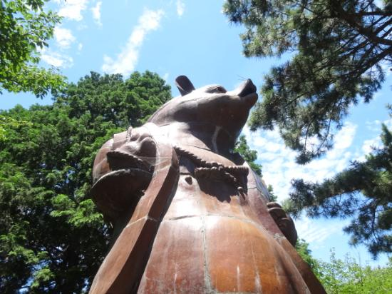 Statue of Big Raccoon Dog