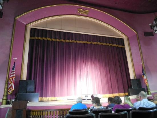 McConnelsville, OH: The stage of the Twin City Opera House