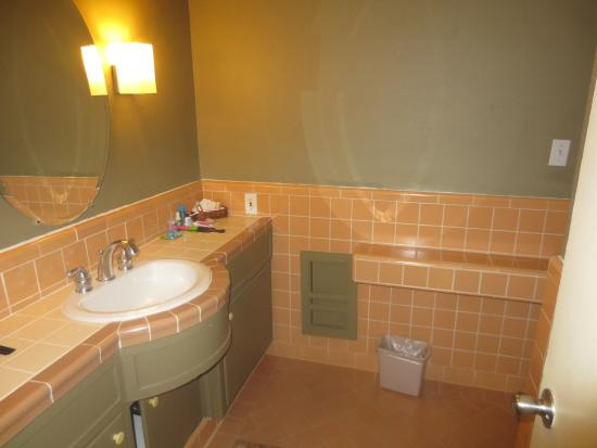 The Chase Hotel of Palm Springs: Cute retro bathroom-room 114