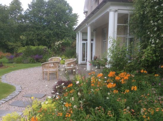 The Dulaig: Patio overlooking gardens