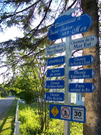 Saint-Fabien-sur-Mer, littoral de 15 kilomètres, municipalité de Saint-Fabien