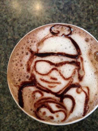 Caffe Kilim: Granddaughter's picture in her drink