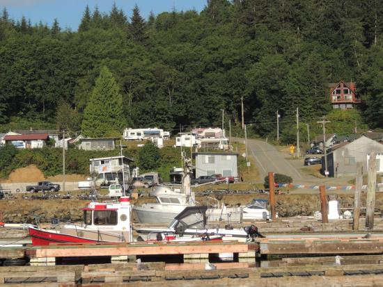 Mason's Olson Resort: View of resort from boat docks