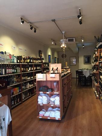 Temptation Restaurant, Bar & Package : Large selection of wine & spirits to go