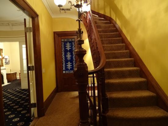 14 Union Park: Escalera de acceso a las habitaciones.