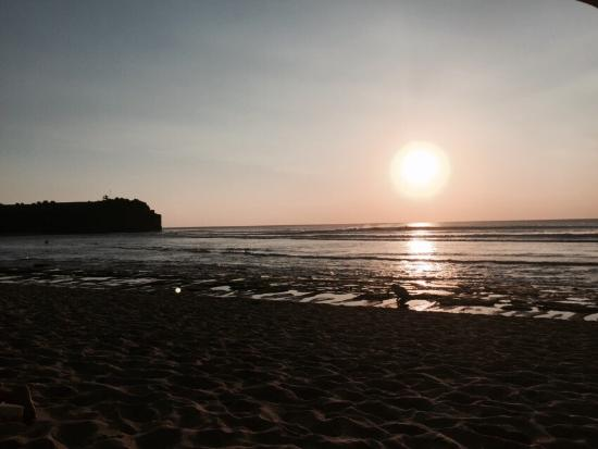 Sunset over Balangan beach. Great place for surfing or for relaxing will sipping your beer. Some