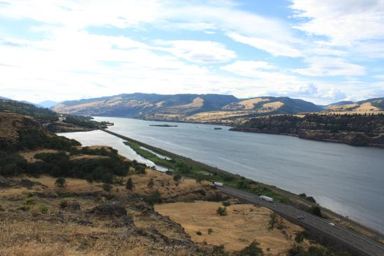Mosier, OR: One of America's largest rivers.