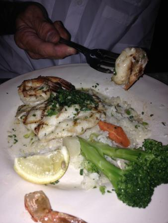 Terrace Restaurant: Triggerfish with grilled shrimp in a citrus butter sauce
