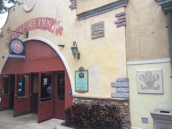 Main entrance to Seafire Inn inside SeaWorld.
