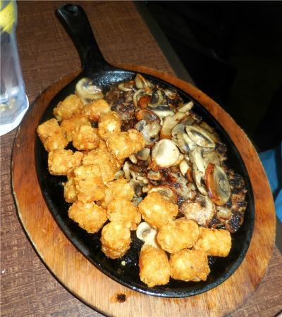 Hop Jacks: Meatloaf with sauteed mushrooms