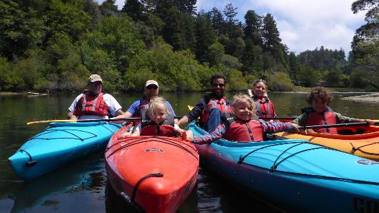Liquid Fusion Kayaking: Family Picture on Noyo River - YAY! Liquid Fusion!!