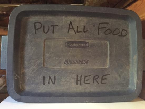 Tioga Pass Resort: Container to store food away from mice