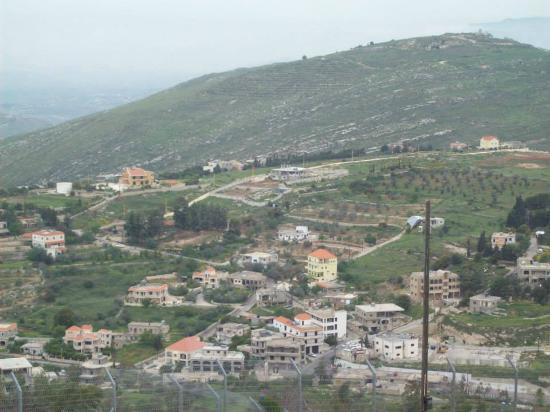 Kiryat Shmona, Israel: Utsikt mot Libanon