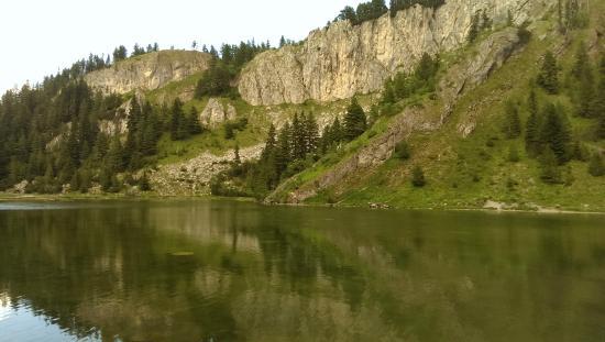 "Rugova Mountains : Mountain top lake on ""Red Rock"" Mountain in Rugova range"