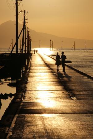 長部田海床路, 干潮の時だけ歩ける海床路