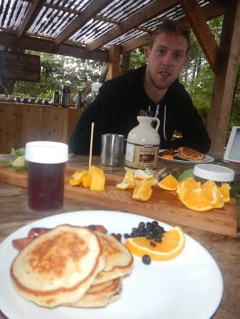 Kingfisher Wilderness Adventures - Orca Waters Kayak Day Trips: Pancakes for breakfast