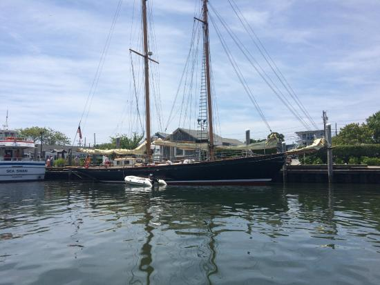 Hyannis Port, MA: The museum's bigger sailboat