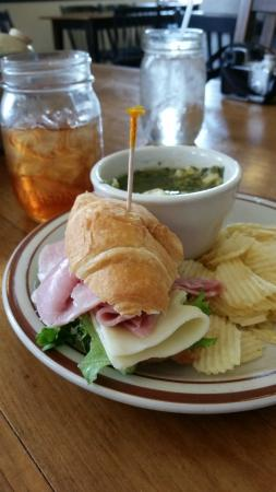 My Just Desserts: Ham and Cheese Croissant with Tortellini soup