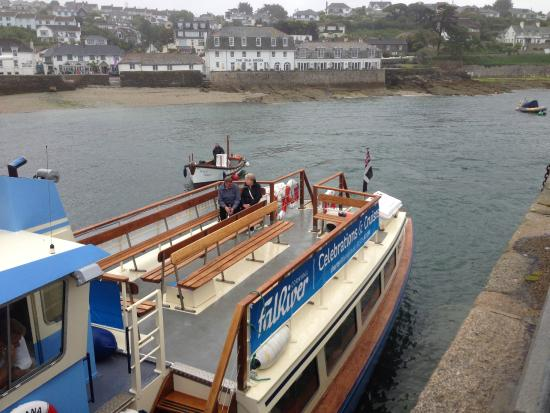 St Mawes, UK: only a few braved the rain by sitting outside