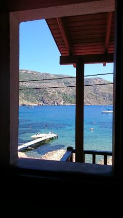 Porto Kayio, Hellas: View from the bathroom