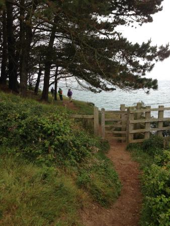 St. Mawes, UK: a path through a gate