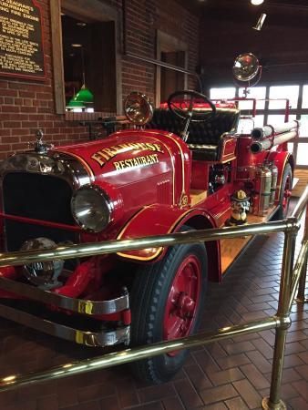 The Firehouse Restaurant : Fire truck in lobby.