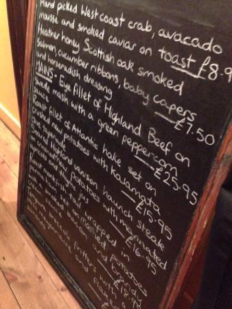 Mustard Seed Restaurant : The specials