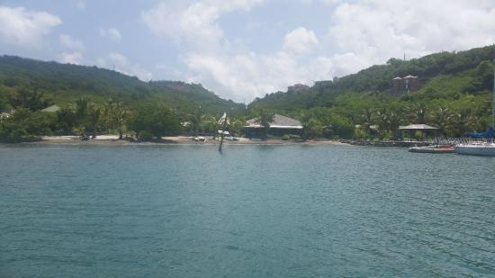 Petite Calivigny, Grenada: view from the marina to the resort.