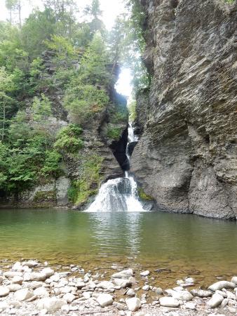Mine Kills Falls with lagoon-like pond amidst wonderful remote