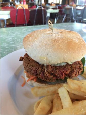Twizel, Nya Zeeland: Veggie burger: yummy!