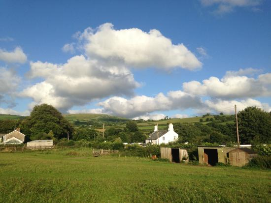 Picture from the Dog walking field looking up to the Moor.