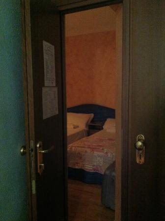 Hotel Orchidea: Entrata piccolina della camera.