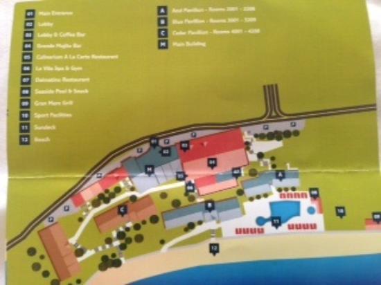 Hotel Map Picture of TUI SENSIMAR Adriatic Beach Resort Zivogosce