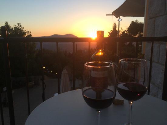 Villa Galilee: Sunset
