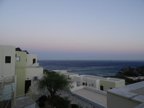 Hotel Polyrizos: von meinem Balkon