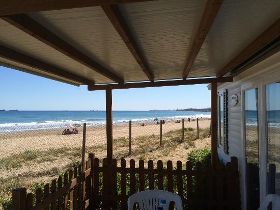Las Palmeras Camping: Vistas desde Bugalow Beach Premium