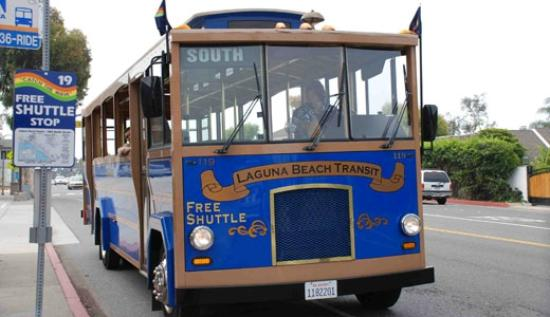Laguna Beach runs free trolleys on Coast Highway all year, but expands its service in summer mon