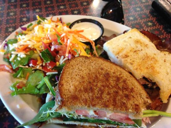 The Silver Lake Cafe: Sharing sandwiches