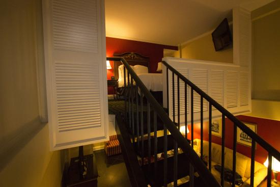 Upstairs Bedroom And Spiral Staircase Picture Of Bourbon Orleans Hotel New Orleans Tripadvisor