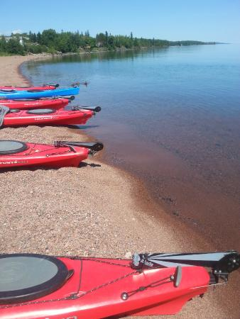 North Shore Expeditions -Day Kayaking Tours: Kayaks Ready To Launch