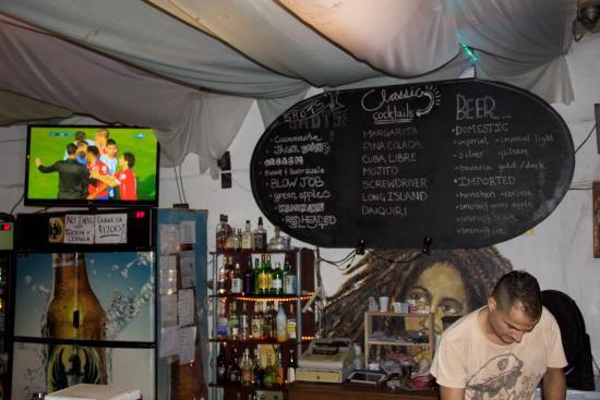 Mango Sunset: The menu (sorry bad pic)
