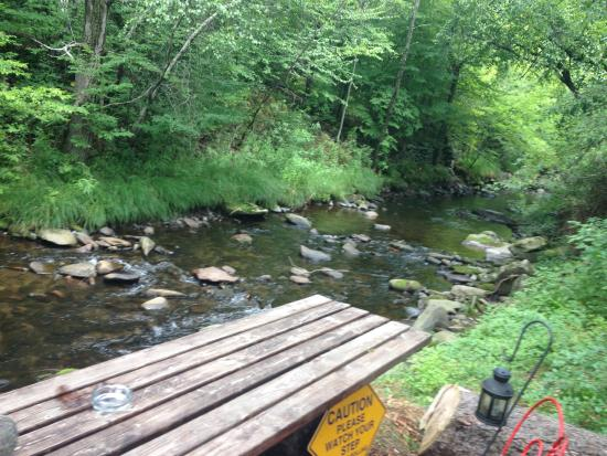 Parksville, estado de Nueva York: the view on the creek