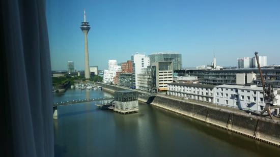 Courtyard by Marriott Düsseldorf Hafen: View toward the Rheinturm