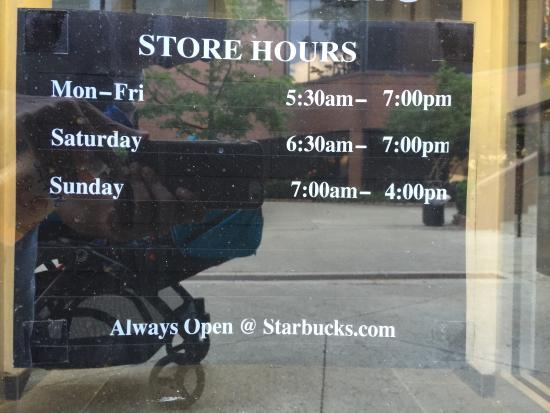 Actual Store Hours Picture Of Starbucks Albany Tripadvisor