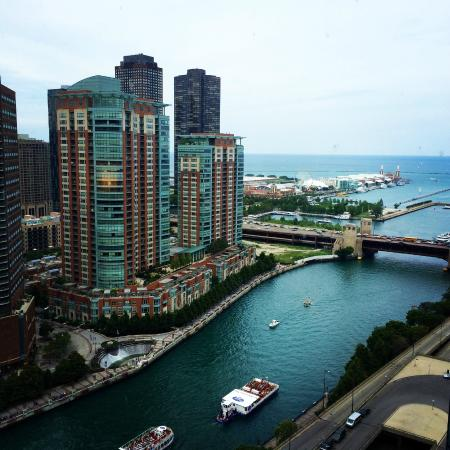 Swissotel Chicago View Of River Navy Pier And Lake Michigan
