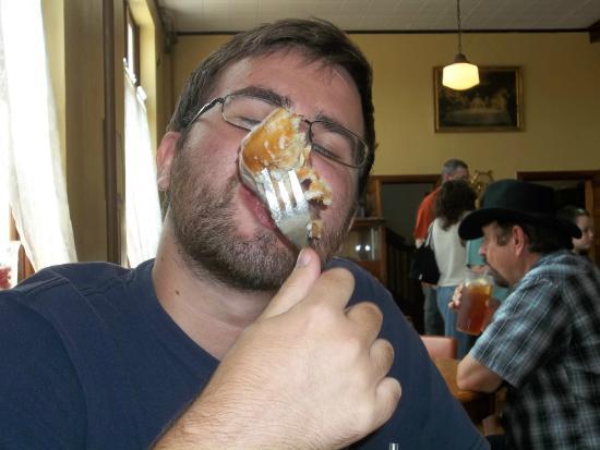 Thee Abbey Kitchen: Enjoying a cream cheese cinnamon roll